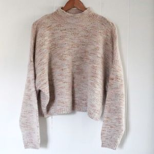 Sincerely Jules Soft Fuzzy Mock Neck Sweater
